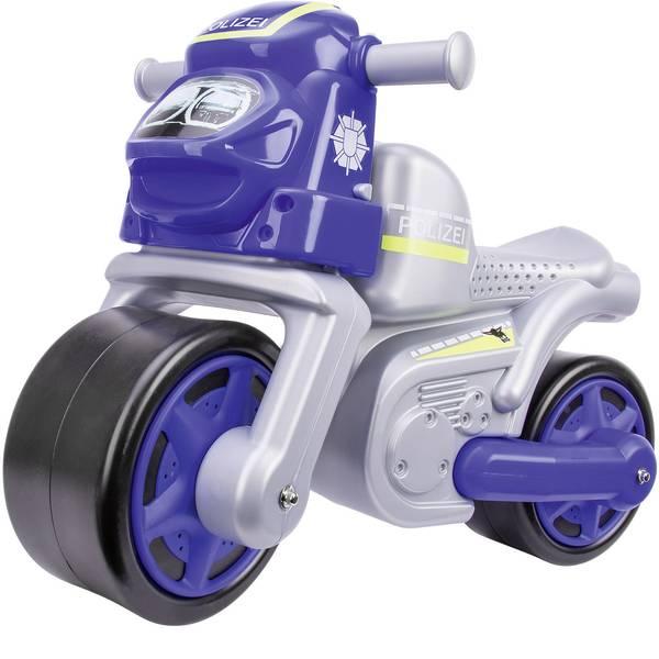 Auto a spinta - Macchina a spinta per bambini BIG Polizei Bike Argento - Blu -