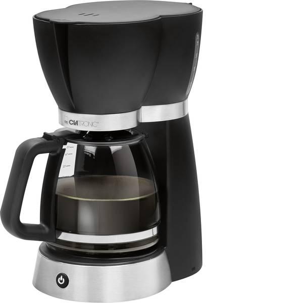 Macchine dal caffè con filtro - Clatronic KA 3689 Macchina per il caffè Nero, Acciaio Capacità tazze=15 -