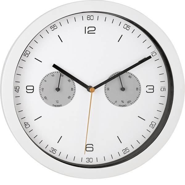 Orologi da parete - Mebus 52826 Radiocontrollato Kit apprendimento orologio da parete 260 mm x 42 mm Bianco -