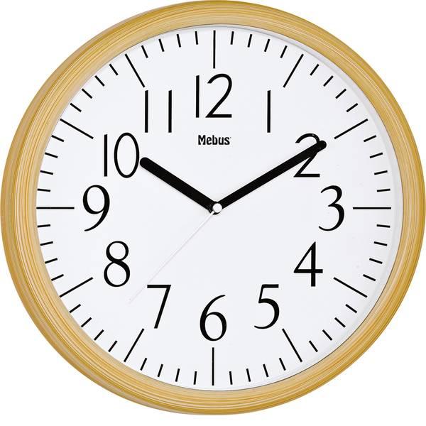 Orologi da parete - Mebus 17925 Quarzo Orologio da parete 305 mm x 40 mm Legno, Naturale -