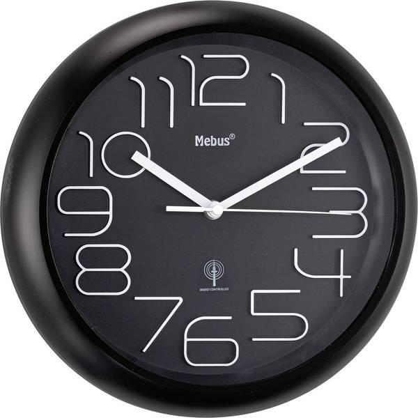 Orologi da parete - Mebus 52830 Radiocontrollato Orologio da parete 300 mm x 45 mm Nero -