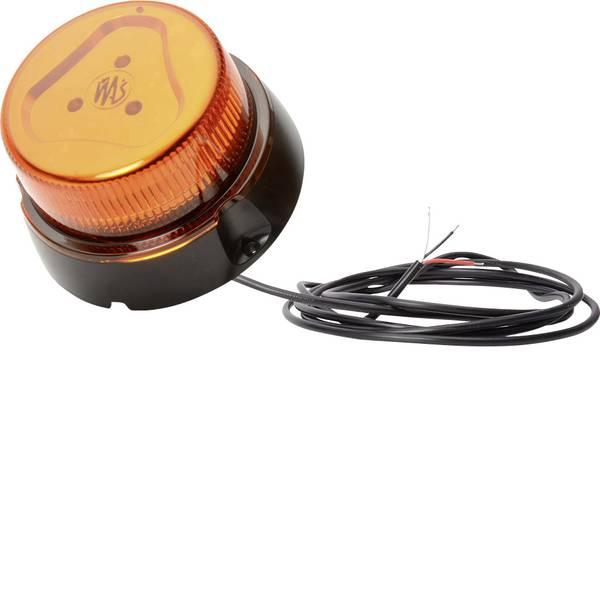 Lampeggianti e luci di segnalazione - WAS Luce a tutto tondo W112 852.4 12 V, 24 V via rete a bordo Montaggio a vite Arancione -