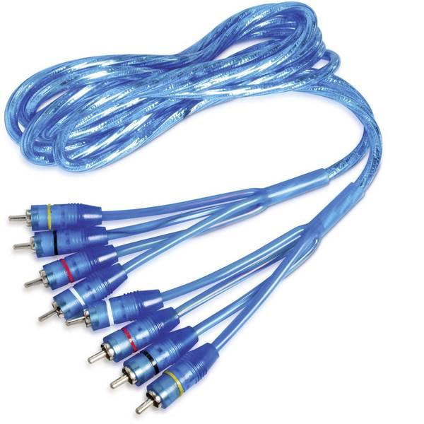 Cavi e connettori RCA HiFi per auto - Cavo RCA 6.5 m Sinustec RCA 65-4 -