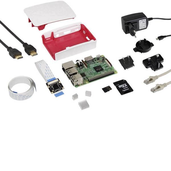 Schede di sviluppo e Single Board Computer - Raspberry Pi® 3 B RB-Cam-Set 1 GB 4 x 1.2 GHz incl. modulo camera, incl. cavo di alimentazione, incl. Noobs OS, incl.  -