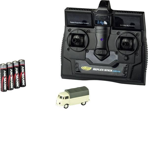 Mini auto radiocomandate elettriche - Carson Modellsport 500504117 VW Bus T1 Pritsche 1:87 Automodello Elettrica Auto stradale Trazione posteriore incl.  -
