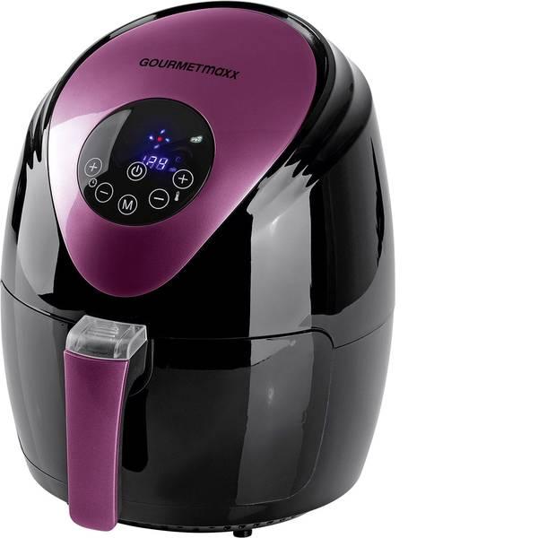 Friggitrici - GourmetMaxx Friggitrice ad aria calda 1500 W Funzione aria calda, Funzione grill, Funzione timer Nero, Bacca -