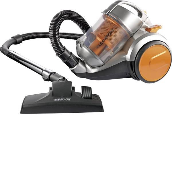Aspirapolveri - CleanMaxx Aspirapolvere senza sacco 700 W Grigio-Arancione -