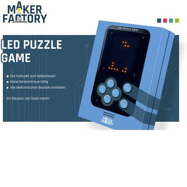 Kit retrò da costruire - MAKERFACTORY LED Puzzle Game Video giochi retrò da 14 anni -