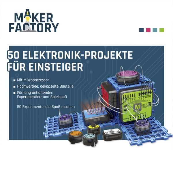 Kit esperimenti e pacchetti di apprendimento - Pacchetto di apprendimento MAKERFACTORY 50 Elektronik-Projekte für Einsteiger -