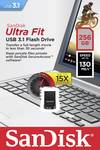 Chiavetta USB SanDisk Cruzer Ultra Fit™ 256GB USB 3.1 nero