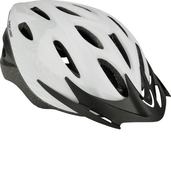 Caschi da bicicletta - Fischer Fahrrad White Vision S/M Caschetto Touring / Città Bianco, Nero Taglia=M -