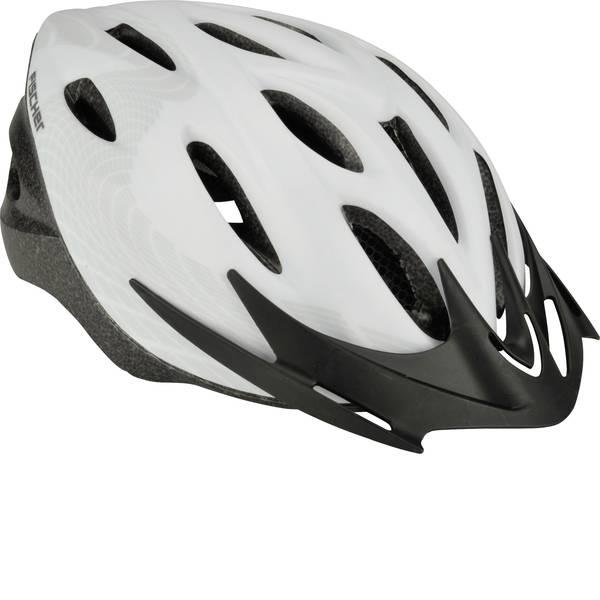 Caschi da bicicletta - Fischer Fahrrad White Vision L/XL Caschetto Touring / Città Bianco, Nero Taglia=L -