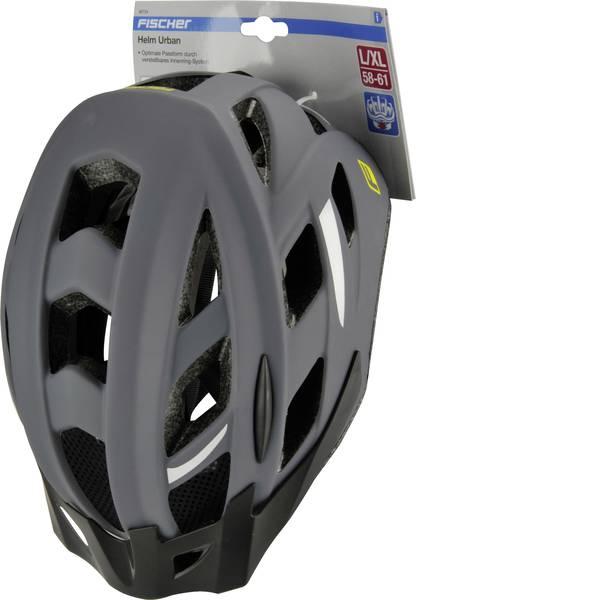 Caschi da bicicletta - Fischer Fahrrad Urban Levin L/XL Casco MTB Grigio, Nero Taglia=L -