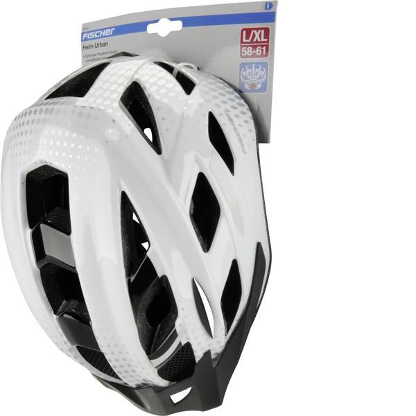 Caschi da bicicletta - Fischer Fahrrad Urban Lano L/XL Casco MTB Bianco, Nero Taglia=L -