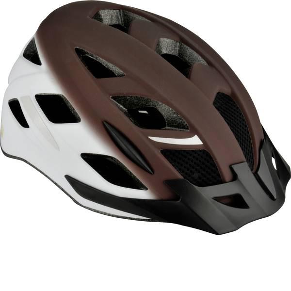 Caschi da bicicletta - Fischer Fahrrad Urban Retro S/M Casco MTB Marrone, Bianco Taglia=M -