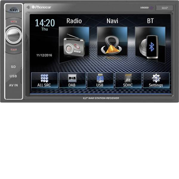 Autoradio e Monitor multimediali - Phonocar VM069 Moniceiver doppio DIN Vivavoce Bluetooth®, Telecomando incl. -