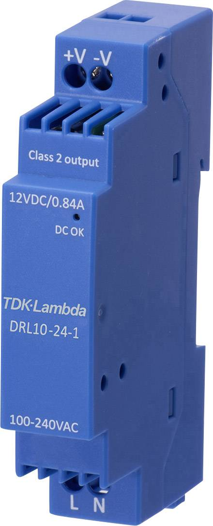 TDK-Lambda DRL-10-12-1 Alimentatore per guida DIN 12 V 0.84 A 10.08 W