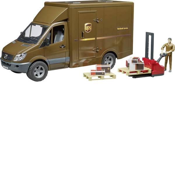 Veicoli industriali e veicoli da cantiere - MB Sprinter Bruder UPS con conducente e accessori -