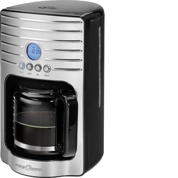 Macchine dal caffè con filtro - Profi Cook PC-KA 1120 Macchina per il caffè Acciaio, Nero Capacità tazze=15 funzione timer, Funzione mantenimento  -
