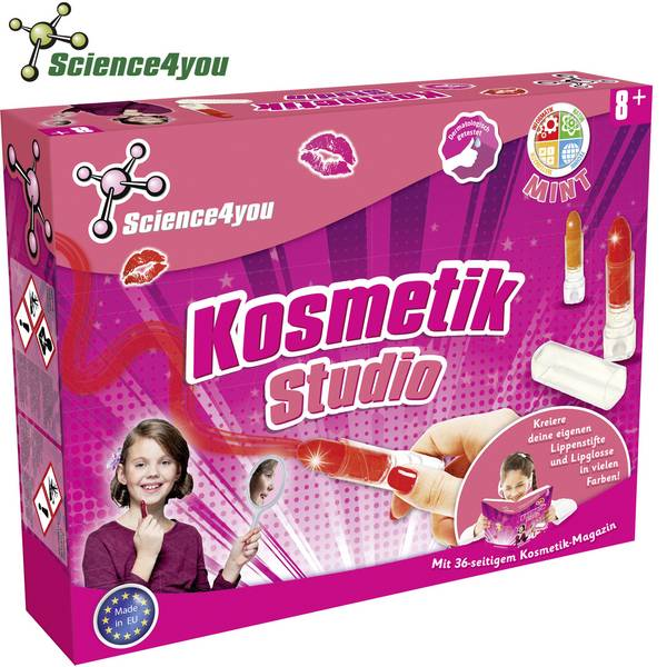 Kit di apprendimento chimica - Kit esperimenti Science4you Kosmetik Studio 1666081 da 8 anni -