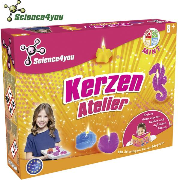 Kit di apprendimento chimica - Kit esperimenti Science4you Kerzen Atelier 1666085 da 8 anni -