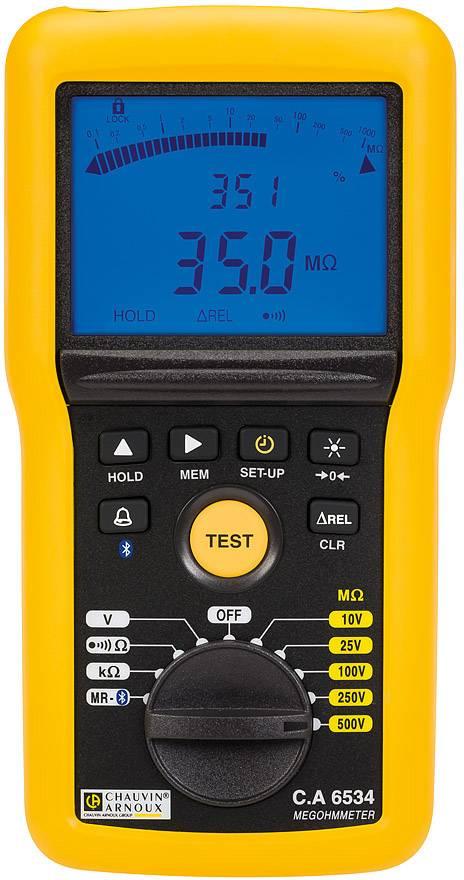 Chauvin Arnoux CA6534 Misuratore di isolamento 10 V, 25 V, 100 V, 250 V, 500 V 50 G? Calibrato di fabbrica senza