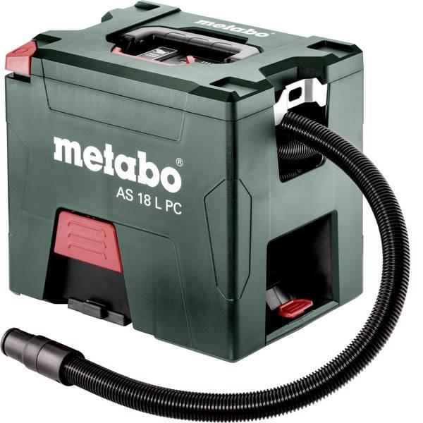 Bidoni aspiratutto - Metabo AS 18 L PC 602021850 Aspirapolvere a secco Kit 7.50 l senza batteria, Aspirazione per polveri di classe L -