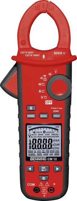 Benning CM 12 Pinza amperometrica Calibrato: di fabbrica senza certificato CAT IV 600 V Display (Counts): 9999