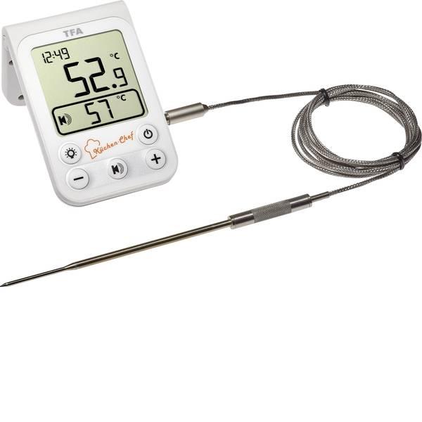 Termometri per la cucina - TFA 14.1510.02 Termometro per Grill Controllo della temperatura, Cavo sensore Frittura, Cibo alla griglia, Cottura  -