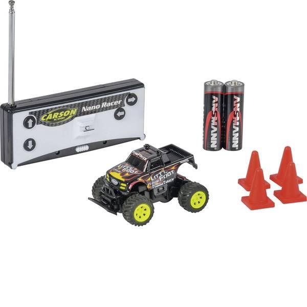 Auto telecomandate - Carson RC Sport 500404184 Nano Racer Little Foot 1:60 Automodello Elettrica Monstertruck Trazione posteriore incl.  -