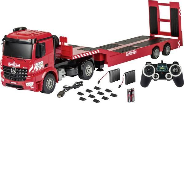 Trattori e mezzi da cantiere RC - Arocs con semirimorchio ribassato Goldhofer rimorchio Modellino per principianti Carson RC Sport 1:20 Camion incl.  -