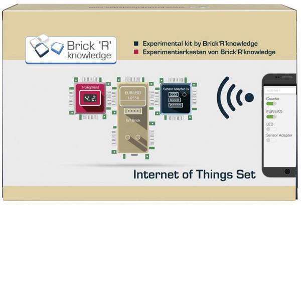 Kit esperimenti e pacchetti di apprendimento - Kit per esperimenti Brick´R´Knowledge Internet of Things Set IoT 138090 -