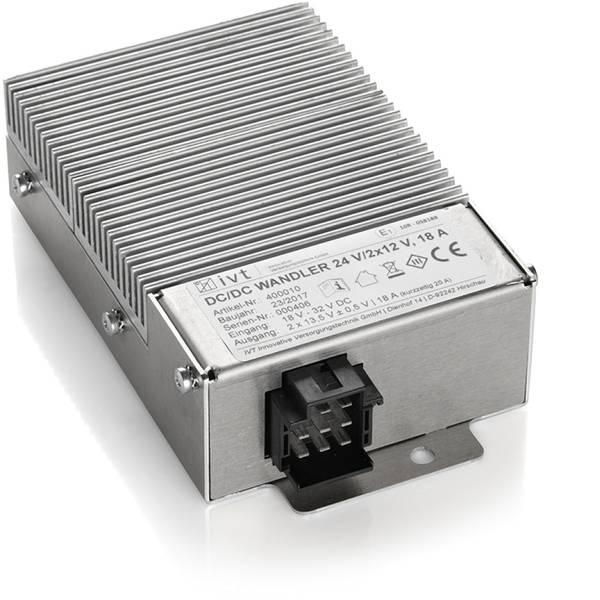 Convertitori di tensione DC/DC - IVT 24V/2x12V Convertitore DC/DC 24 V/DC - 12 V/DC/20 A -