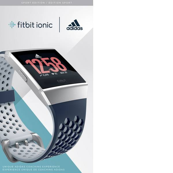 Dispositivi indossabili - FitBit Ionic adidas edition Smartwatch Blu inchiostro, Grigio ghiaccio -