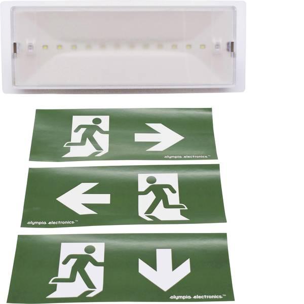 Segnaletica per uscite d`emergenza - Olympia Electronics GR-9/leds Indicazione via di fuga illuminata a LED Montaggio a parete -