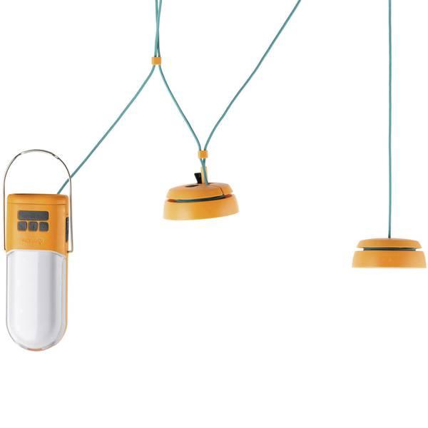 Lampade per campeggio, outdoor e per immersioni - LED Luce da campeggio BioLite NanoGrid 150 lm a batteria ricaricabile Arancione, Turchese 006-6001106 -