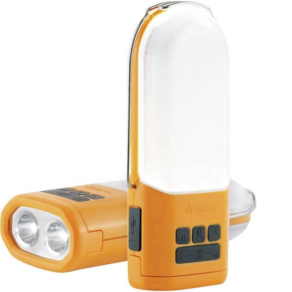 Lampade per campeggio, outdoor e per immersioni - LED Luce da campeggio BioLite PowerLight a batteria ricaricabile, via USB 210 g Arancione, Grigio 006-6001108 -