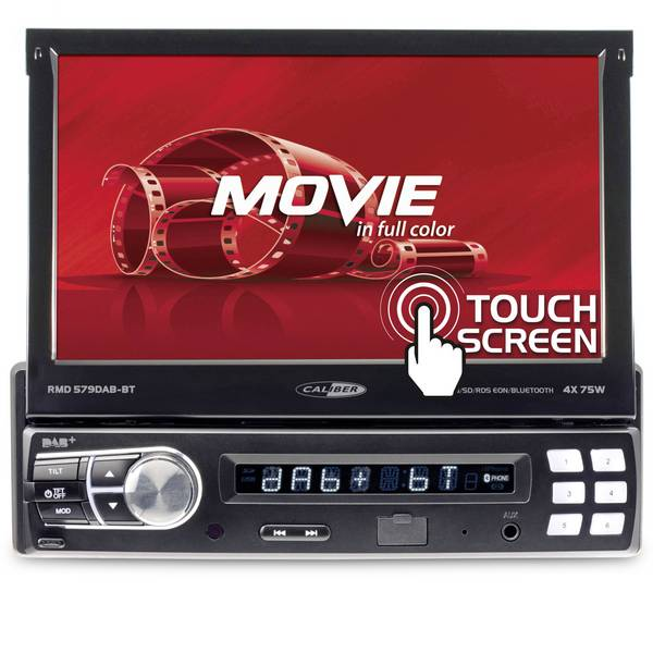 Autoradio e Monitor multimediali - Caliber Audio Technology RMD579DAB-BT Moniceiver Sintonizzatore DAB+, Collegamento per controllo remoto da volante,  -