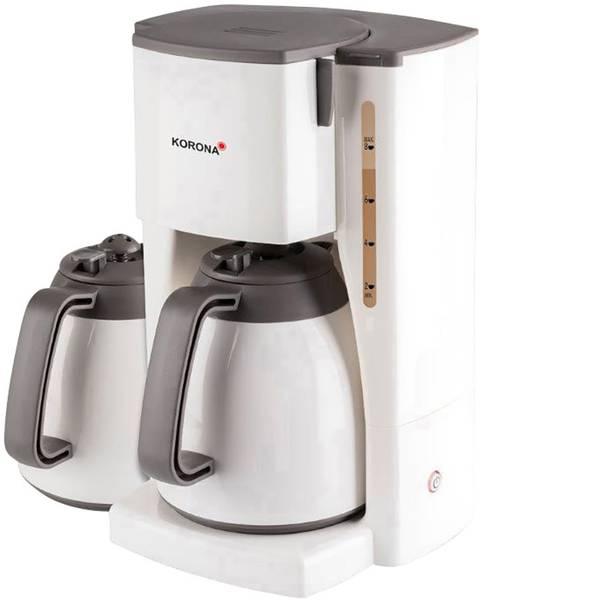 Macchine dal caffè con filtro - Korona 10310 Macchina per il caffè Bianco Capacità tazze=8 Isolato -