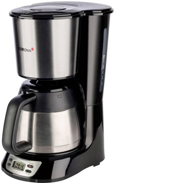 Macchine dal caffè con filtro - Korona 10332 Macchina per il caffè Acciaio, Nero Capacità tazze=7 Isolato, funzione timer -
