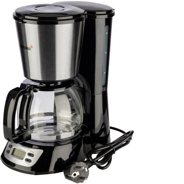 Macchine dal caffè con filtro - Korona 12113 Macchina per il caffè Nero, Acciaio Capacità tazze=6 funzione timer -