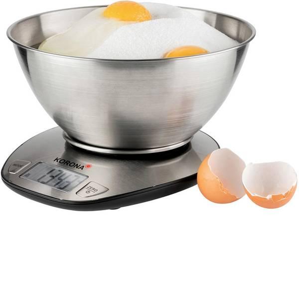 Bilance da cucina - Korona Mila Bilancia da cucina digitale con contenitore di misurazione Portata max.=5 kg Acciaio -
