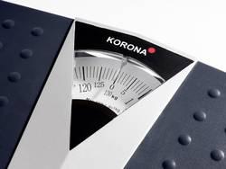 superficie antiscivolo dettagli cromati grande scala di visibilit/à portata 160 kg Bilancia pesapersone meccanica Korona 77775 Peter