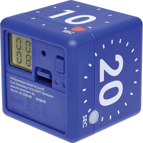 Timer - TFA CUBE Timer Blu digitale -