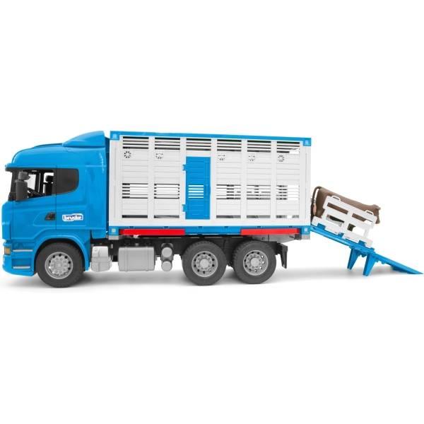 Veicoli industriali e veicoli da cantiere - Bruder Scania R-serie Tier furgoni AUTOCARRO + manzo -