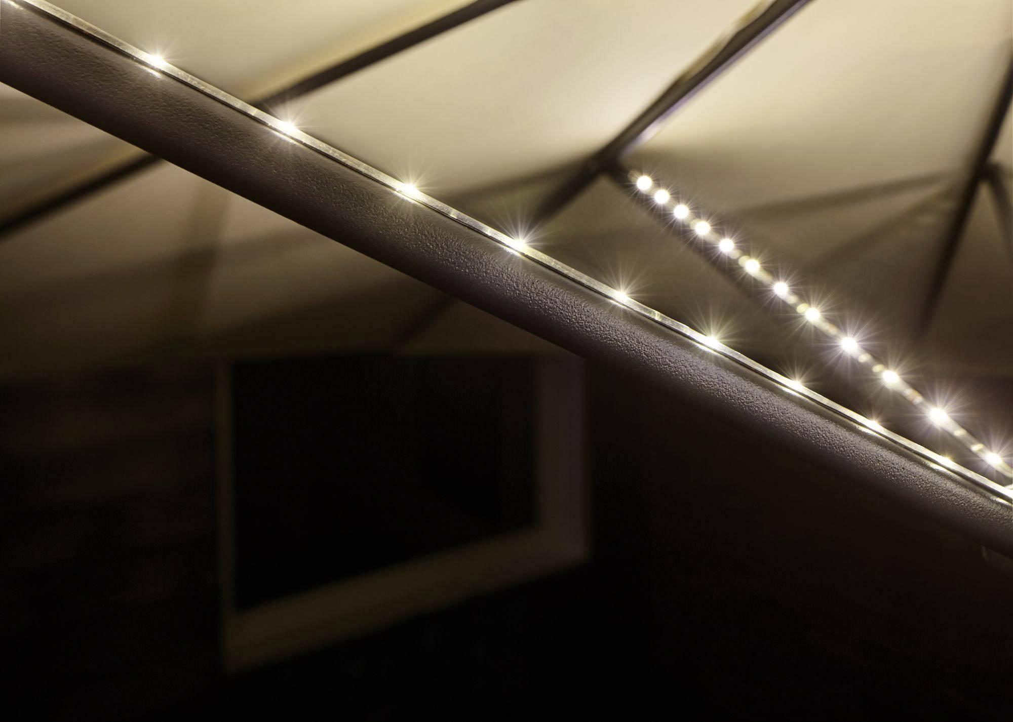 Illuminazione per ombrellone a batteria kit da w bianco caldo