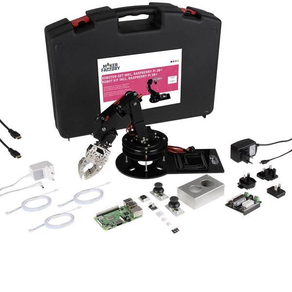 Schede di sviluppo e Single Board Computer - Raspberry Pi® 3 B+ RB-RoboSet R3B+ MF 1 GB 4 x 1.4 GHz incl. braccio robotico, incl. controller, incl. dissipatore,  -