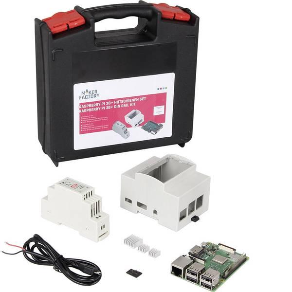 Schede di sviluppo e Single Board Computer - Raspberry Pi® 3 Model B+ 1 GB kit guida DIN Noobs incl. Alloggiamento, incl. Alimentatore -