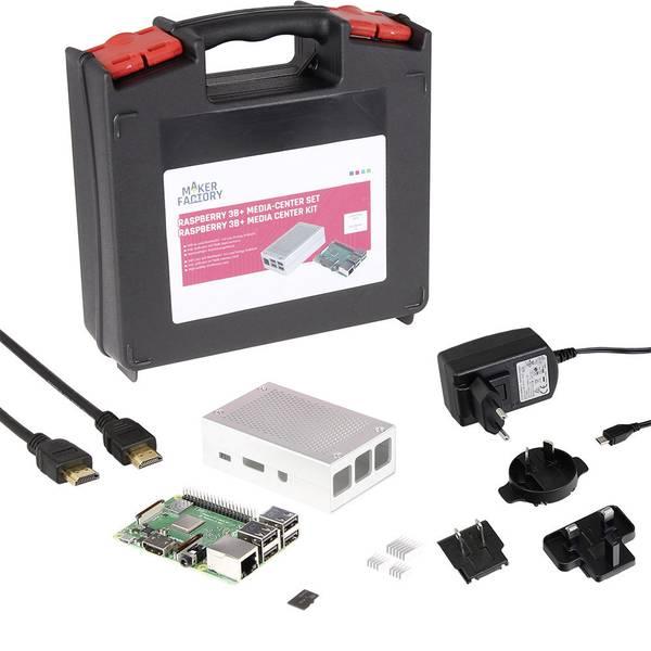 Schede di sviluppo e Single Board Computer - Raspberry Pi® 3 B+ Media-Center Set 1 GB 4 x 1.4 GHz incl. cavo di alimentazione, incl. custodia, incl. Noobs OS, incl.  -