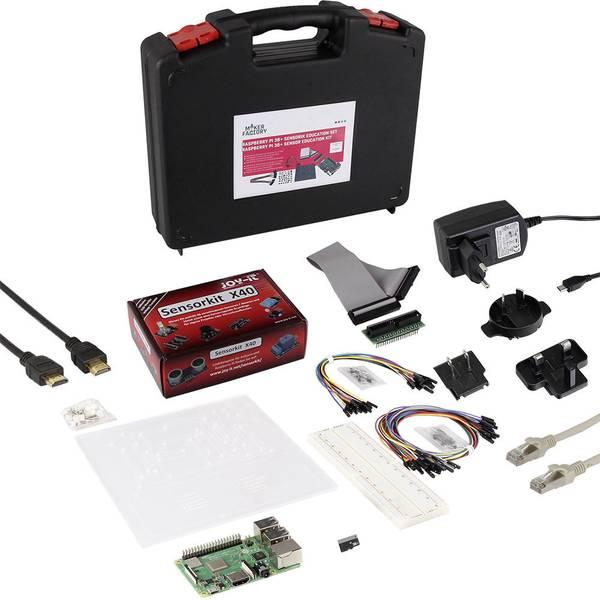 Schede di sviluppo e Single Board Computer - Raspberry Pi® 3 Model B+ kit sensori education set 1 GB incl. Alimentatore, incl. Software -